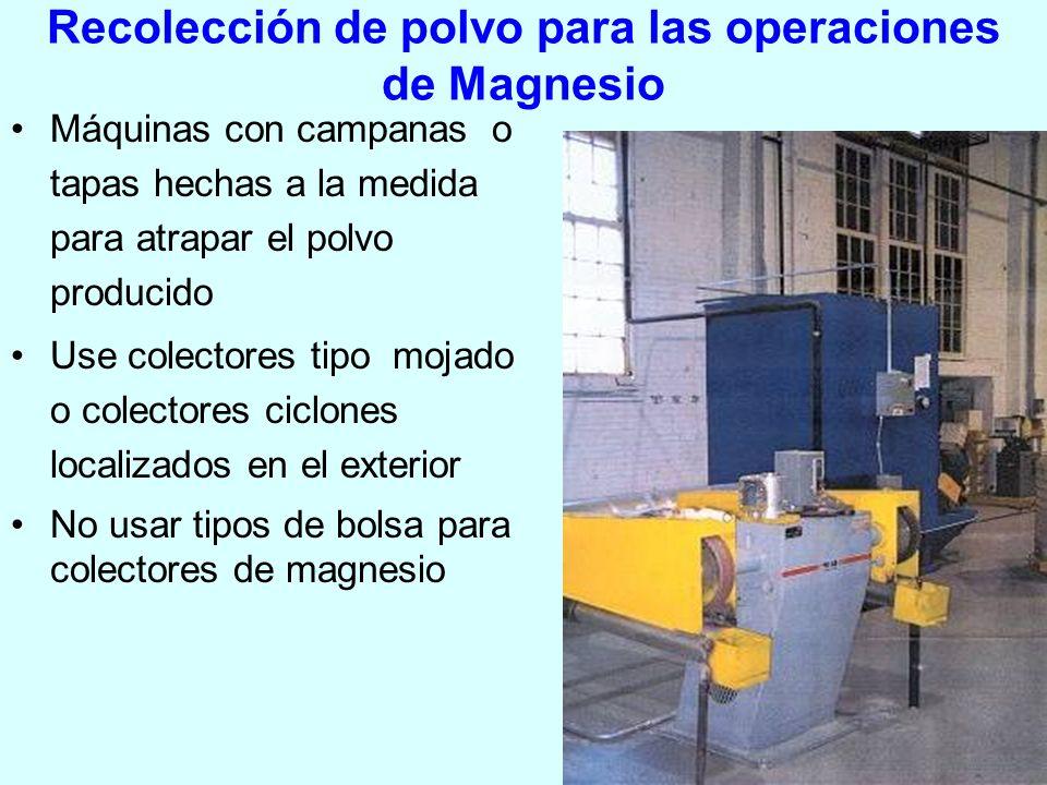 Recolección de polvo para las operaciones de Magnesio