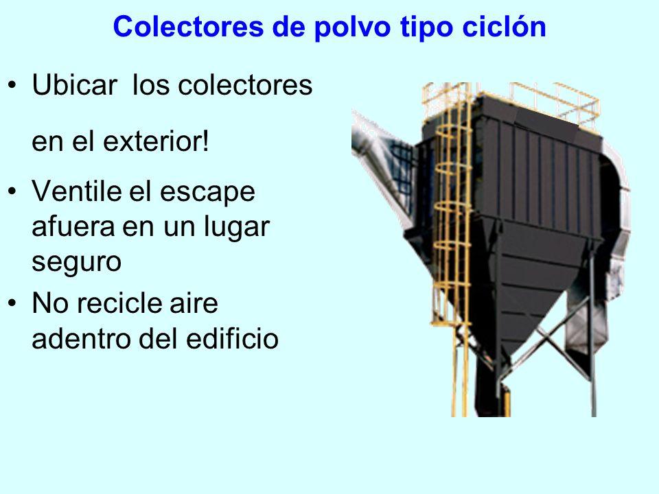 Colectores de polvo tipo ciclón