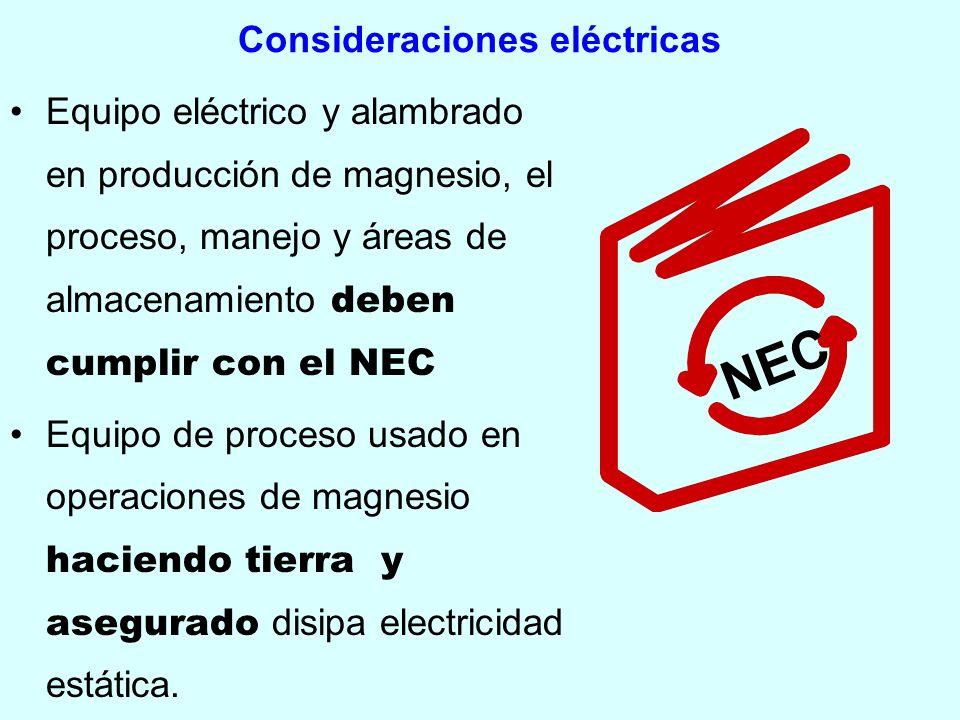 Consideraciones eléctricas