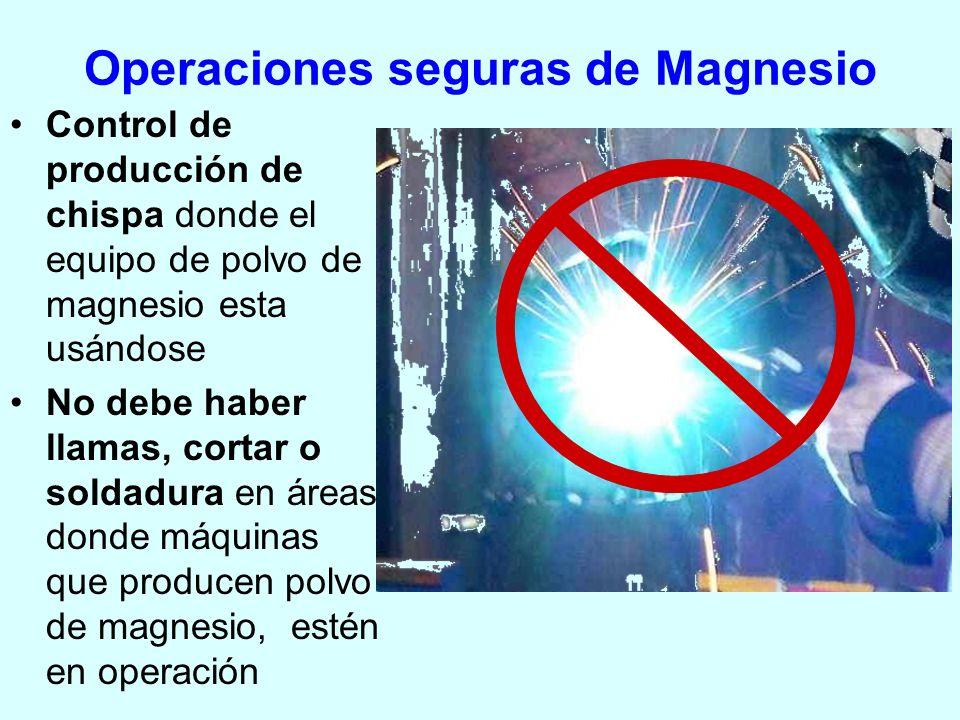 Operaciones seguras de Magnesio