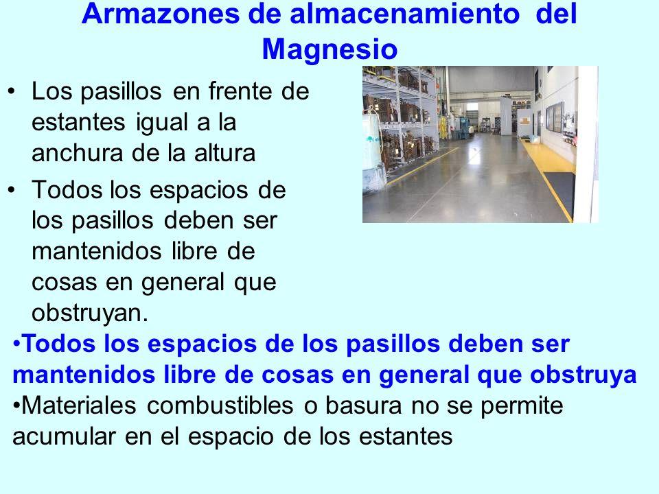 Armazones de almacenamiento del Magnesio