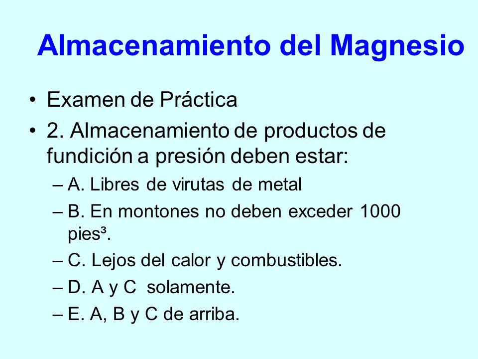 Almacenamiento del Magnesio