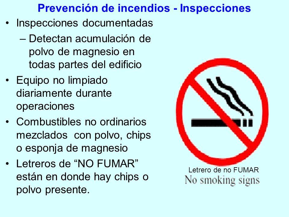 Prevención de incendios - Inspecciones