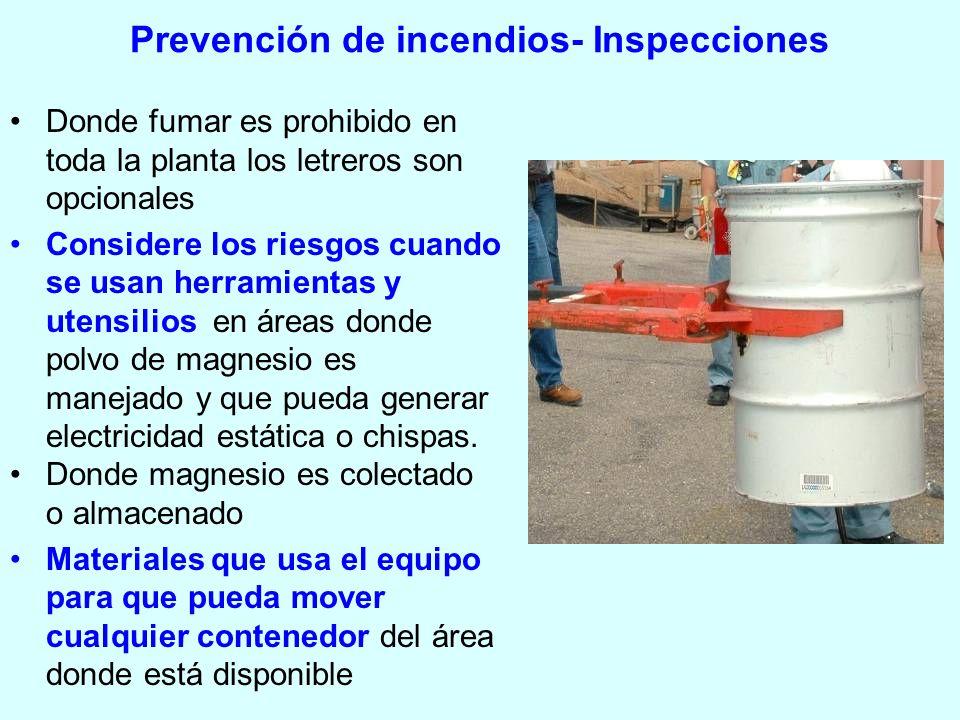 Prevención de incendios- Inspecciones
