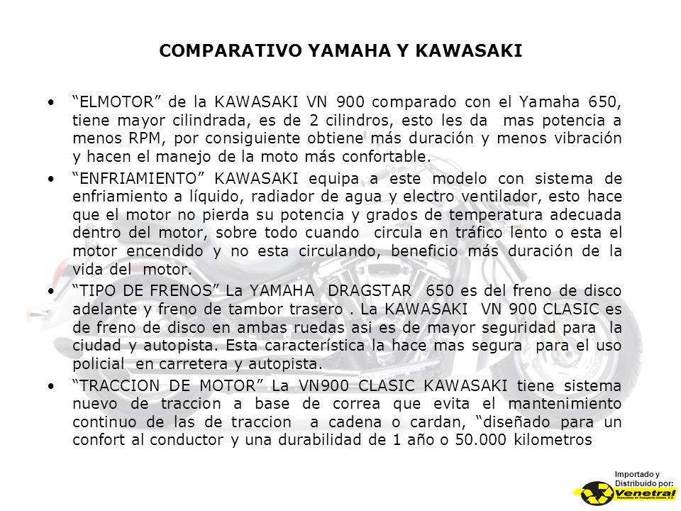 COMPARATIVO YAMAHA Y KAWASAKI