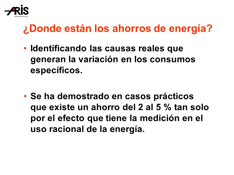 ¿Donde están los ahorros de energía