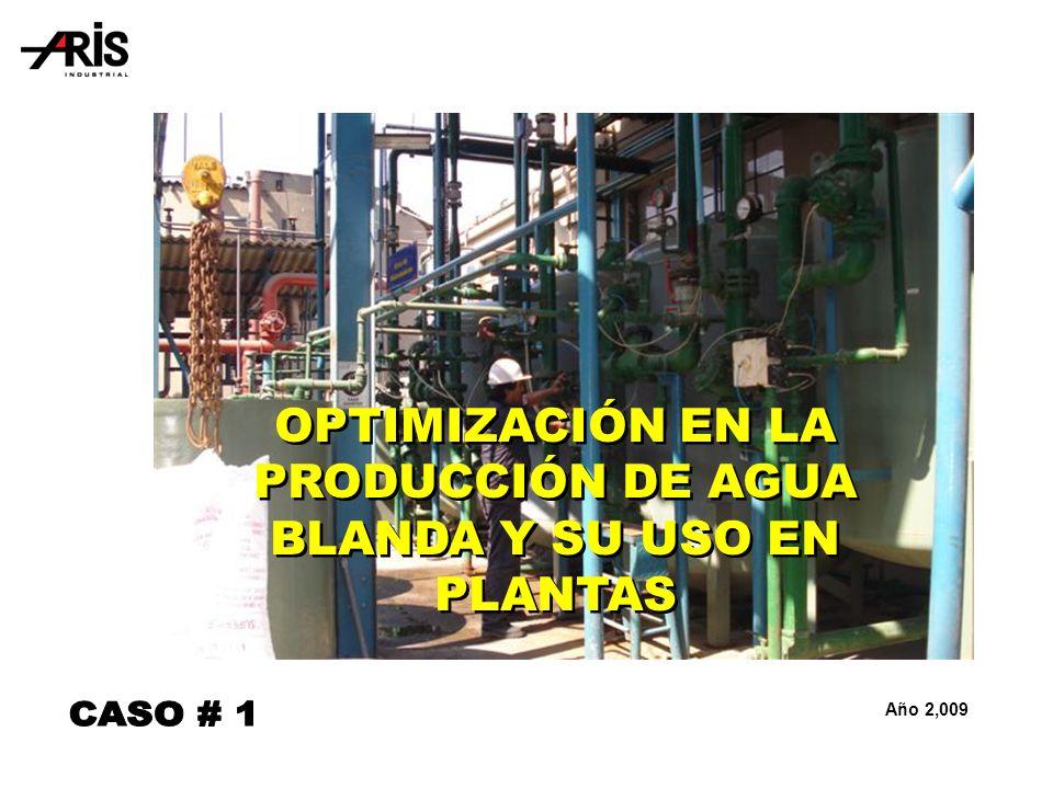 OPTIMIZACIÓN EN LA PRODUCCIÓN DE AGUA BLANDA Y SU USO EN PLANTAS