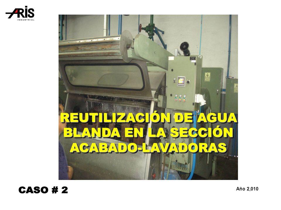 REUTILIZACIÓN DE AGUA BLANDA EN LA SECCIÓN ACABADO-LAVADORAS