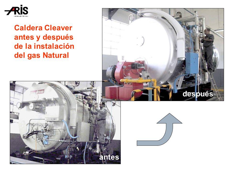 Caldera Cleaver antes y después de la instalación del gas Natural
