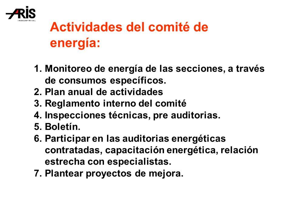 Actividades del comité de energía: