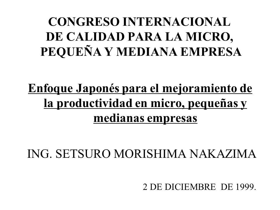 ING. SETSURO MORISHIMA NAKAZIMA