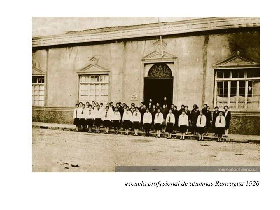 escuela profesional de alumnas Rancagua 1920