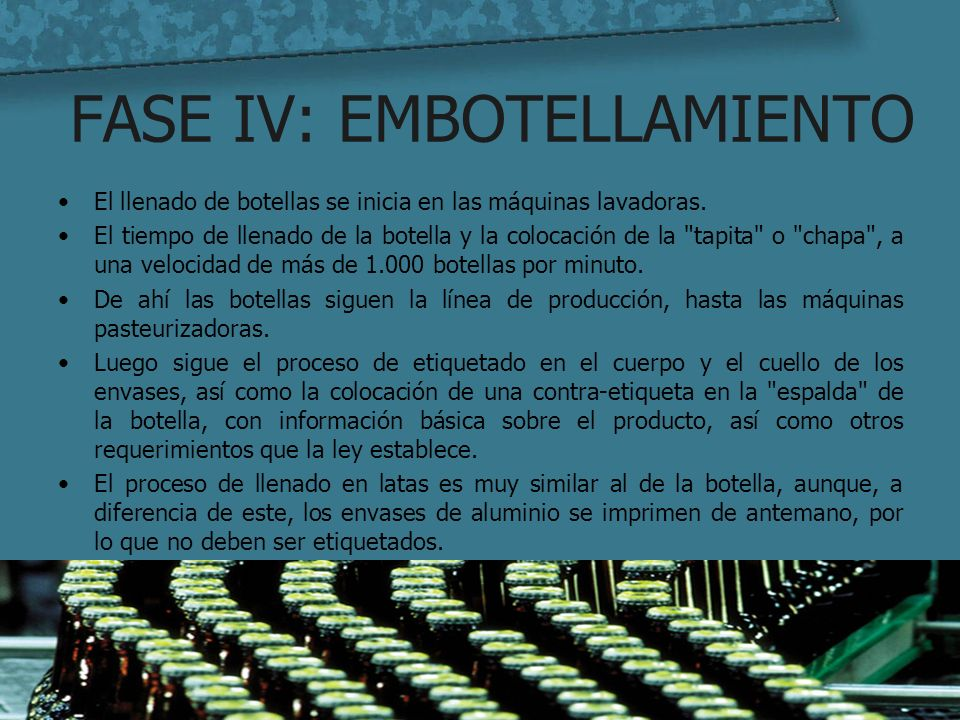 FASE IV: EMBOTELLAMIENTO