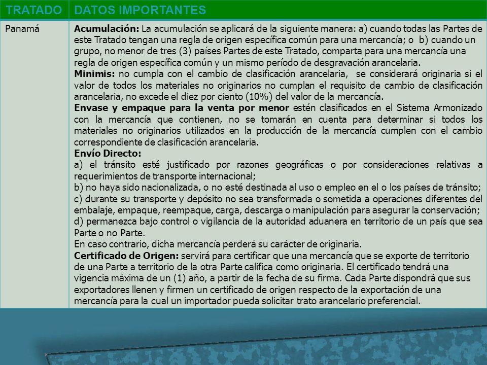 TRATADO DATOS IMPORTANTES Panamá