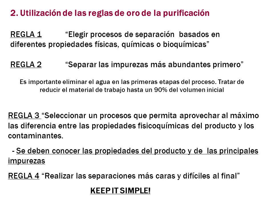 2. Utilización de las reglas de oro de la purificación