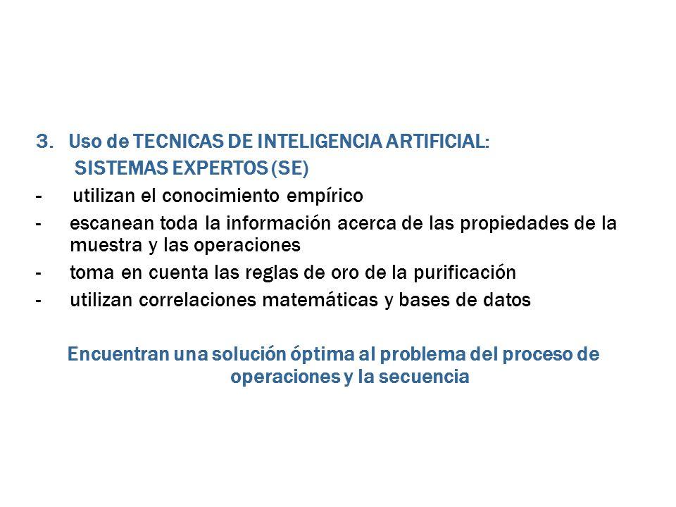 3. Uso de TECNICAS DE INTELIGENCIA ARTIFICIAL: