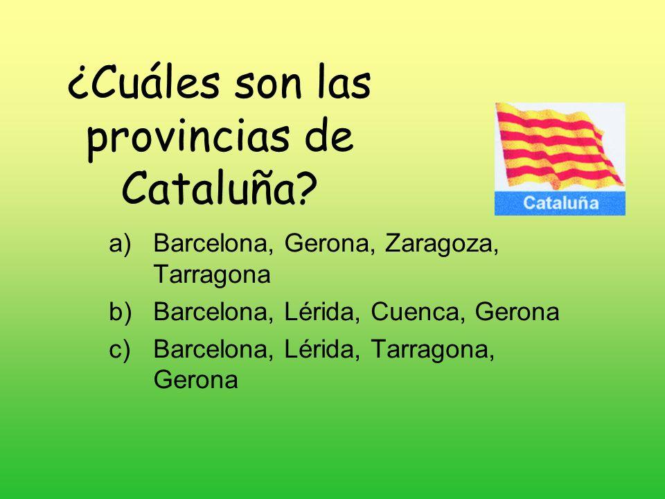 ¿Cuáles son las provincias de Cataluña