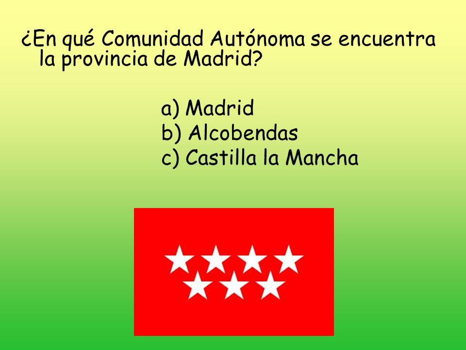 ¿En qué Comunidad Autónoma se encuentra la provincia de Madrid
