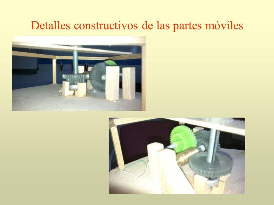 Detalles constructivos de las partes móviles
