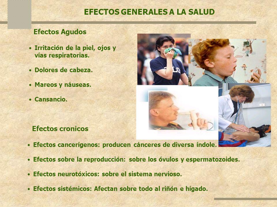 EFECTOS GENERALES A LA SALUD
