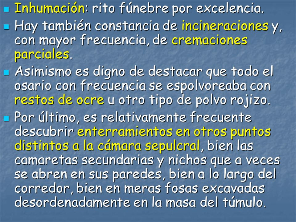 Inhumación: rito fúnebre por excelencia.