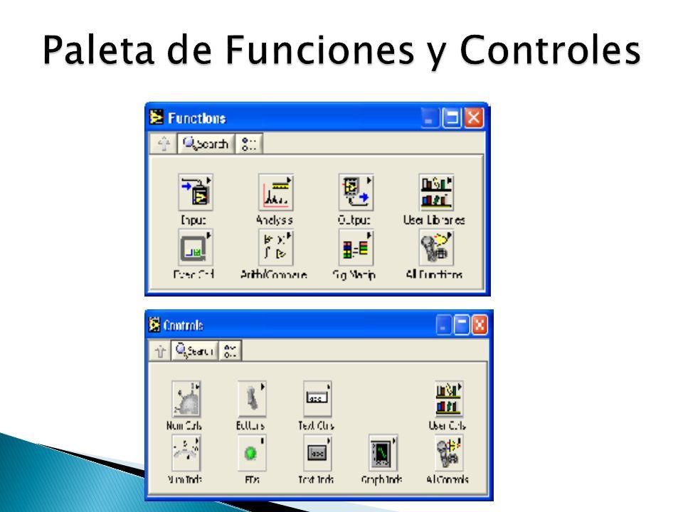 Paleta de Funciones y Controles