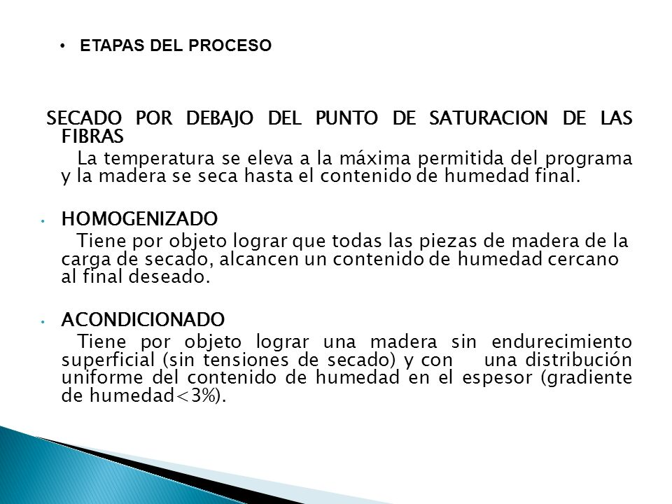 SECADO POR DEBAJO DEL PUNTO DE SATURACION DE LAS FIBRAS