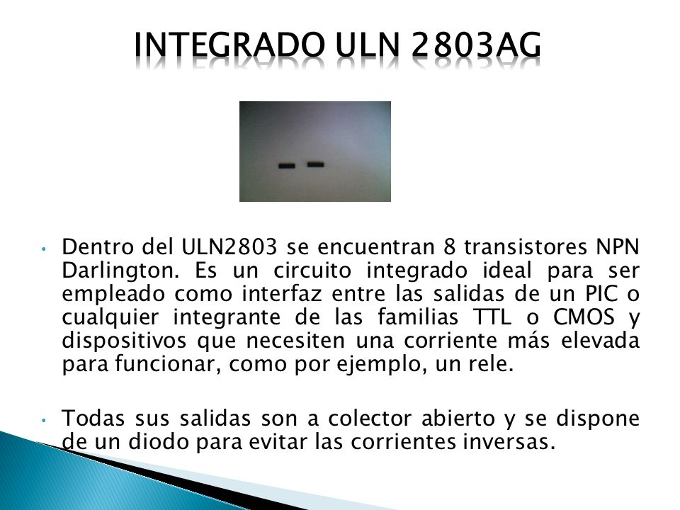 Integrado uln 2803ag