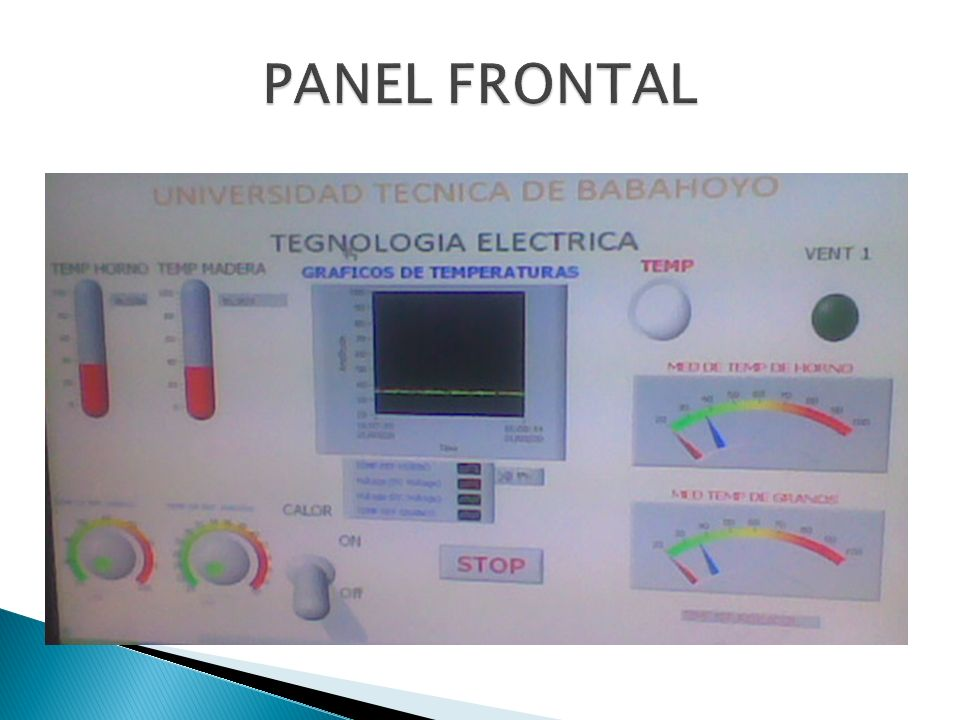 PANEL FRONTAL
