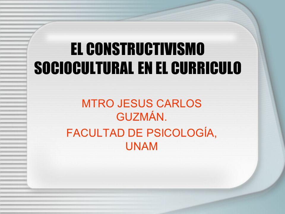 EL CONSTRUCTIVISMO SOCIOCULTURAL EN EL CURRICULO