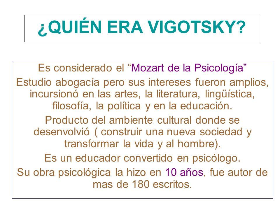 ¿QUIÉN ERA VIGOTSKY Es considerado el Mozart de la Psicología