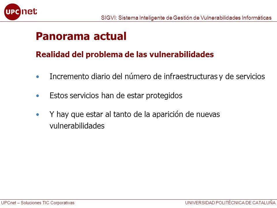 Panorama actual Realidad del problema de las vulnerabilidades