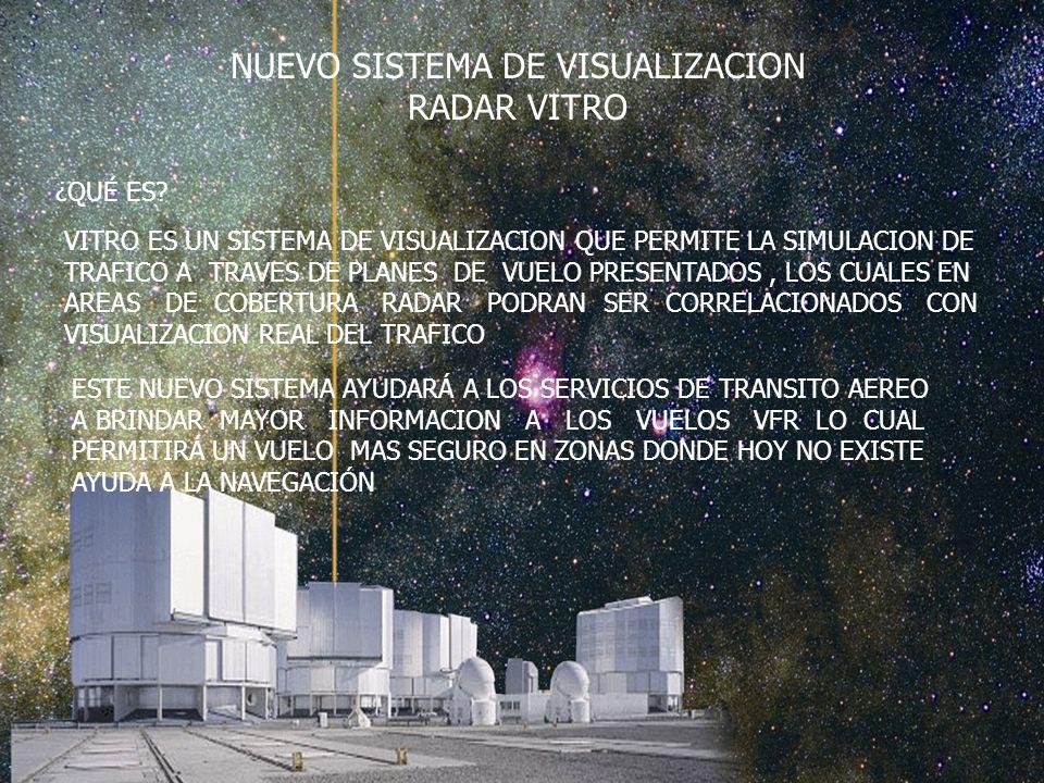 NUEVO SISTEMA DE VISUALIZACION RADAR VITRO