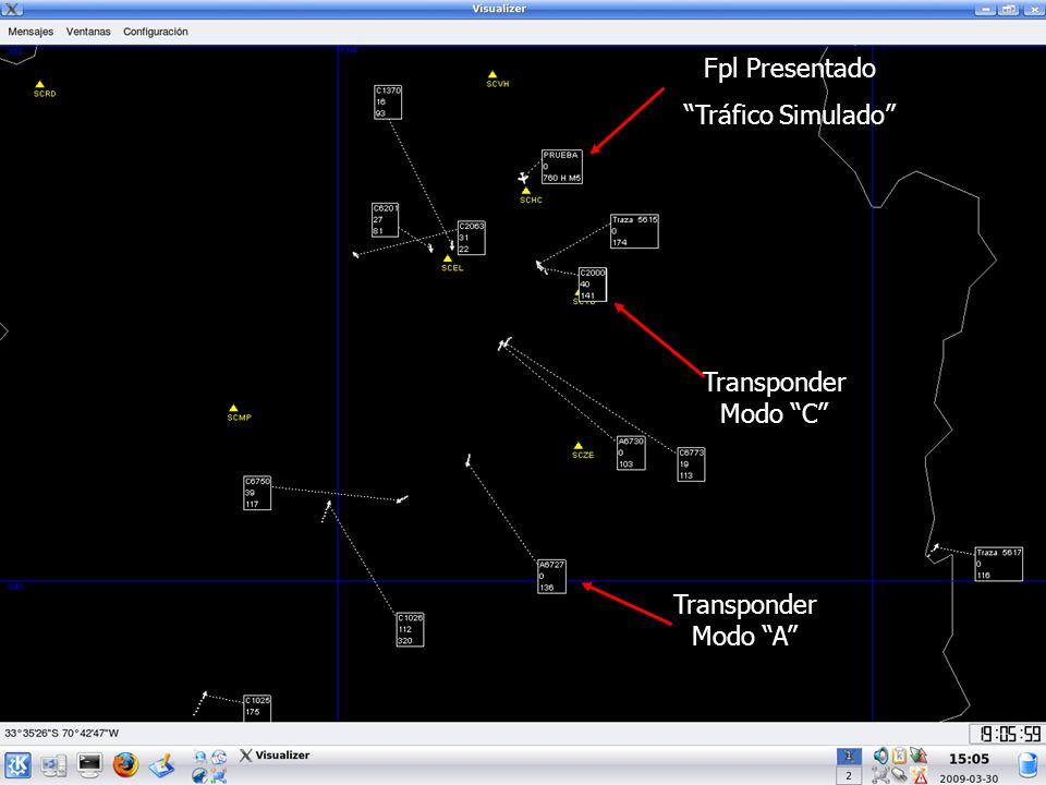 Fpl Presentado Tráfico Simulado Transponder Modo C Transponder Modo A