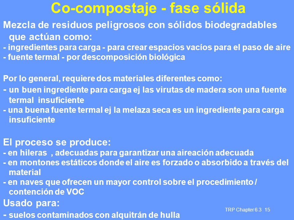 Co-compostaje - fase sólida