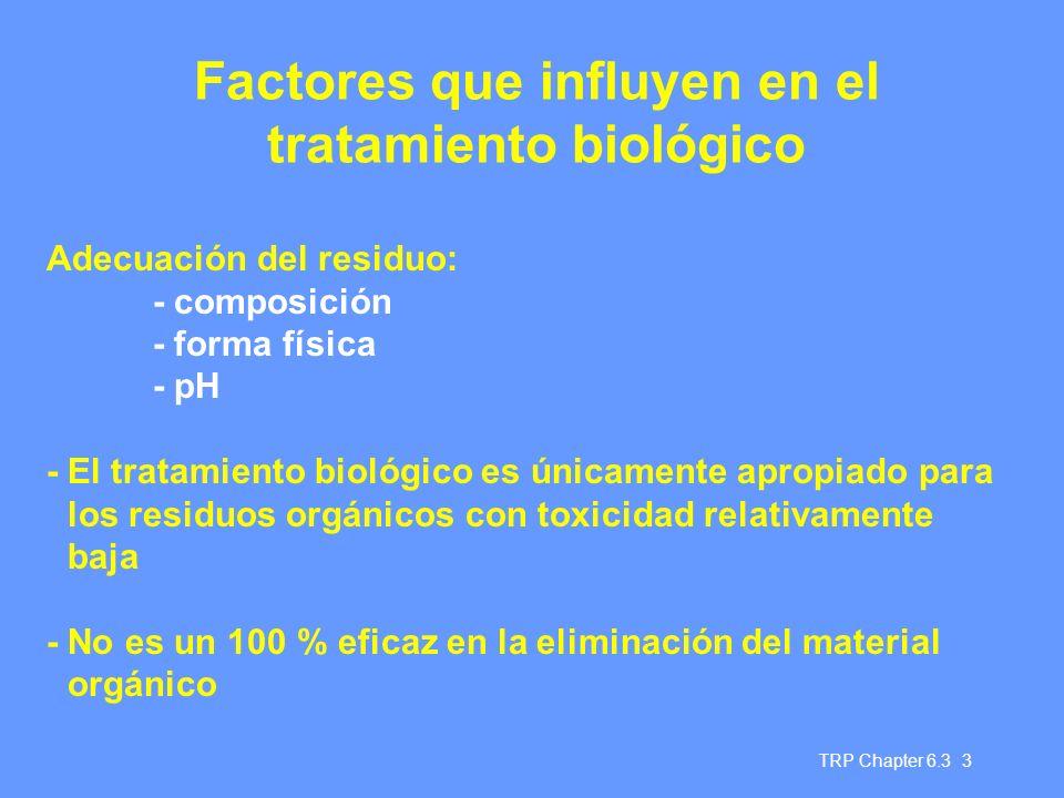 Factores que influyen en el tratamiento biológico