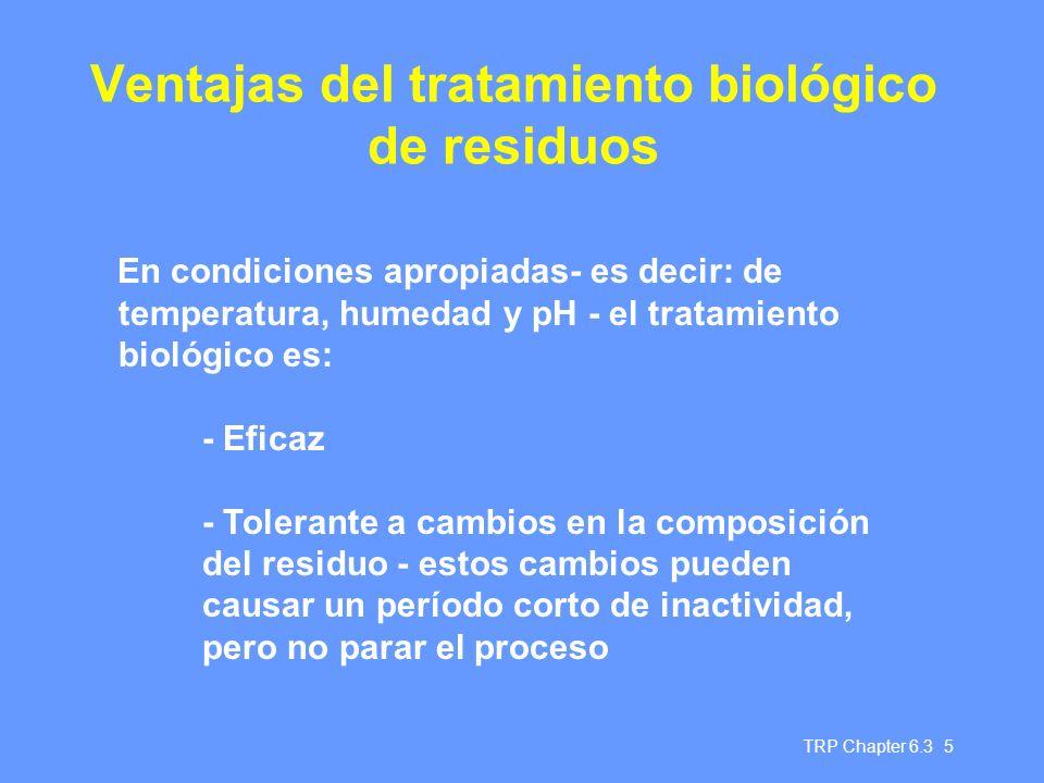 Ventajas del tratamiento biológico de residuos