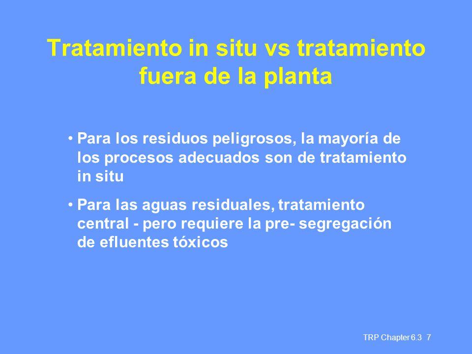 Tratamiento in situ vs tratamiento fuera de la planta