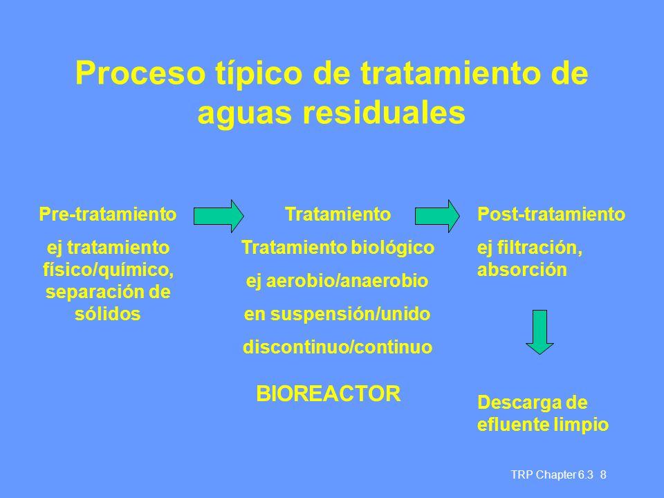 Proceso típico de tratamiento de aguas residuales
