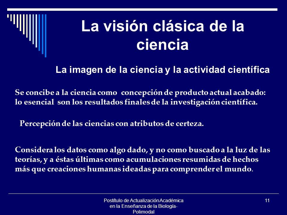 La visión clásica de la ciencia