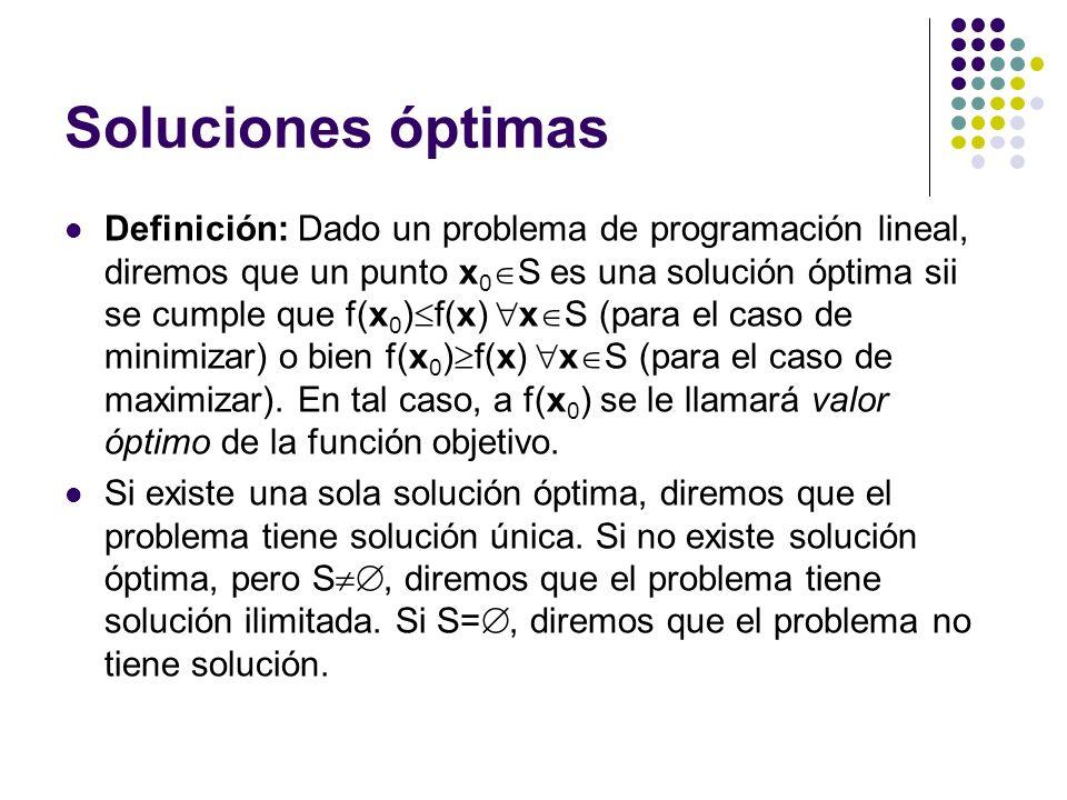 Soluciones óptimas