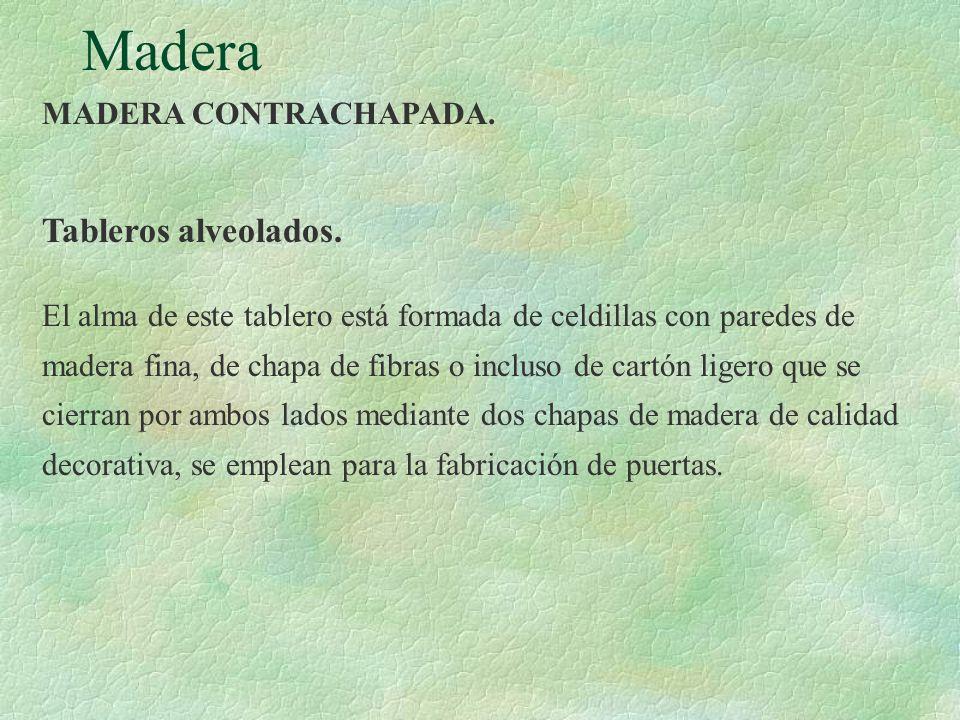 Madera Tableros alveolados. MADERA CONTRACHAPADA.
