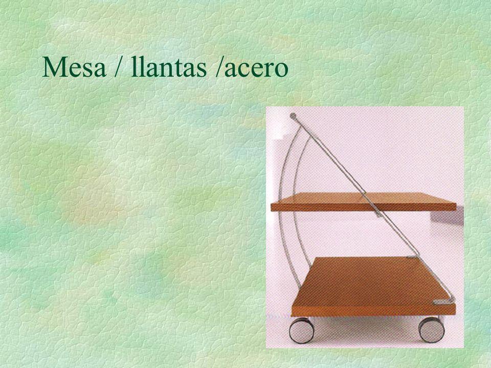 Mesa / llantas /acero