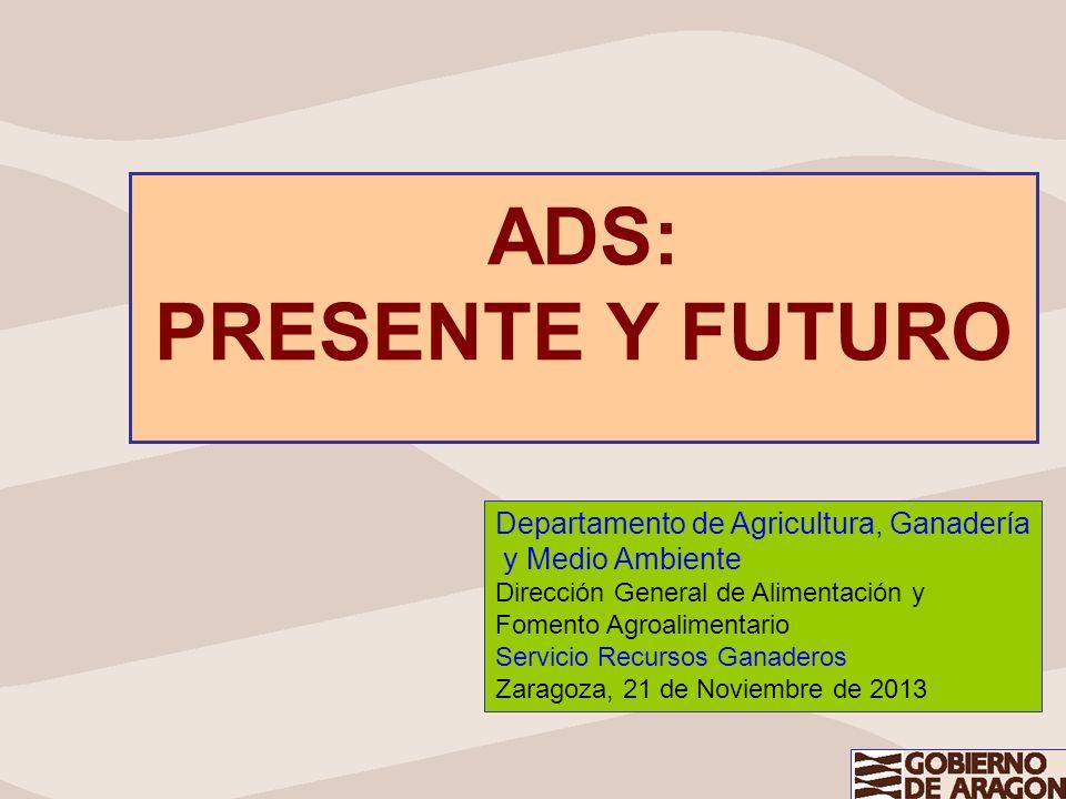 ADS: PRESENTE Y FUTURO Departamento de Agricultura, Ganadería