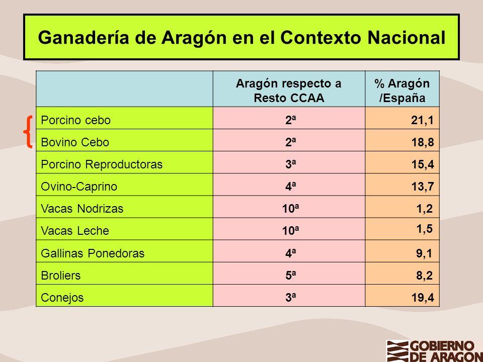 Ganadería de Aragón en el Contexto Nacional