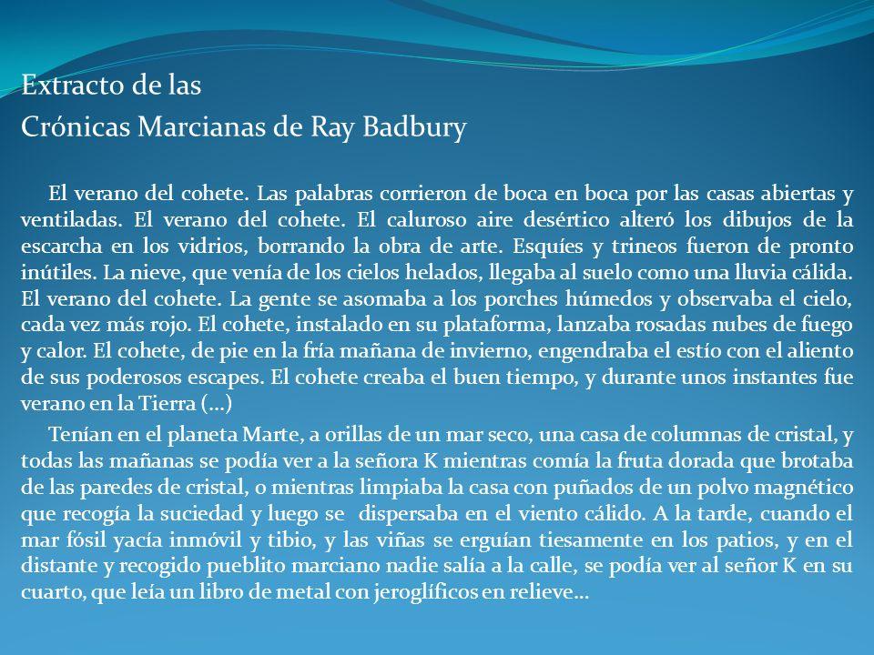 Crónicas Marcianas de Ray Badbury