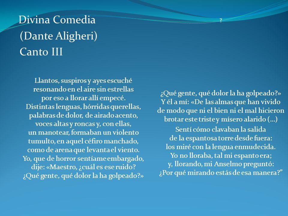 (Dante Aligheri) Canto III