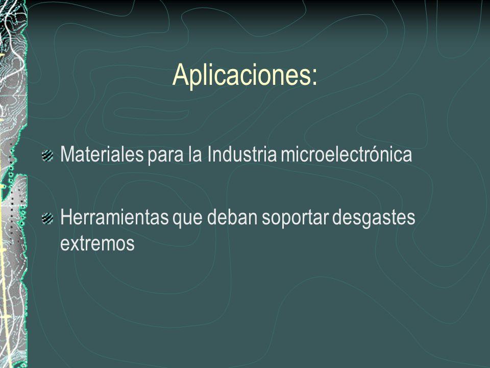 Aplicaciones: Materiales para la Industria microelectrónica