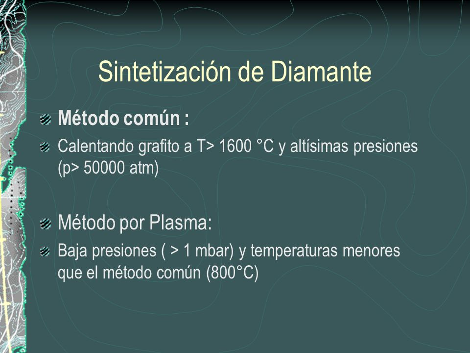 Sintetización de Diamante