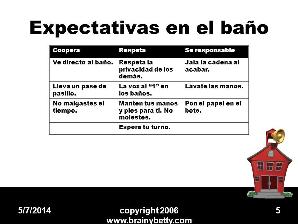 Expectativas en el baño
